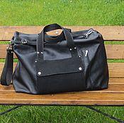Сумки и аксессуары handmade. Livemaster - original item Travel bag WEST EAST genuine leather black. Handmade.