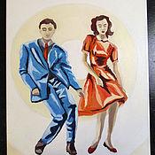 Картины и панно handmade. Livemaster - original item Oil painting 30h40 Dancing. Handmade.