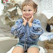 Одежда handmade. Livemaster - original item Children`s blouse made of linen with embroidery,height 98 cm. Handmade.