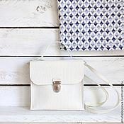 Сумки и аксессуары ручной работы. Ярмарка Мастеров - ручная работа Сумка молочная с портфельным замком. Handmade.