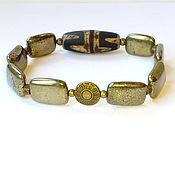 Фен-шуй и эзотерика handmade. Livemaster - original item Bracelet for men with bead JI (pyrite natural). Handmade.
