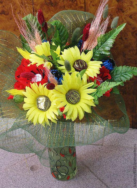 """Букеты ручной работы. Ярмарка Мастеров - ручная работа. Купить """"Полевые цветы 2"""". Handmade. Сладкий подарок, флористические материалы"""