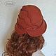 """Шляпы ручной работы. Валяная шляпка """"Осенний багрянец"""" войлок, кожа.. Ирина (iresh). Ярмарка Мастеров. Шляпа"""
