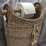 Для дома и интерьера ручной работы. Ярмарка Мастеров - ручная работа Корзина для Туалетной бумаги. Handmade.
