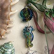 """Украшения ручной работы. Ярмарка Мастеров - ручная работа Кулон - """"Морские пришельцы"""" - 2-ой. Handmade."""