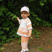 Работы для детей, ручной работы. Ярмарка Мастеров - ручная работа Летний костюмчик. Handmade.