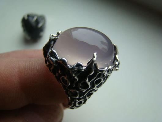 Кольца ручной работы. Ярмарка Мастеров - ручная работа. Купить Кольцо с розовым кварцем (новое). Handmade. Серебряный, кольцо с кварцем