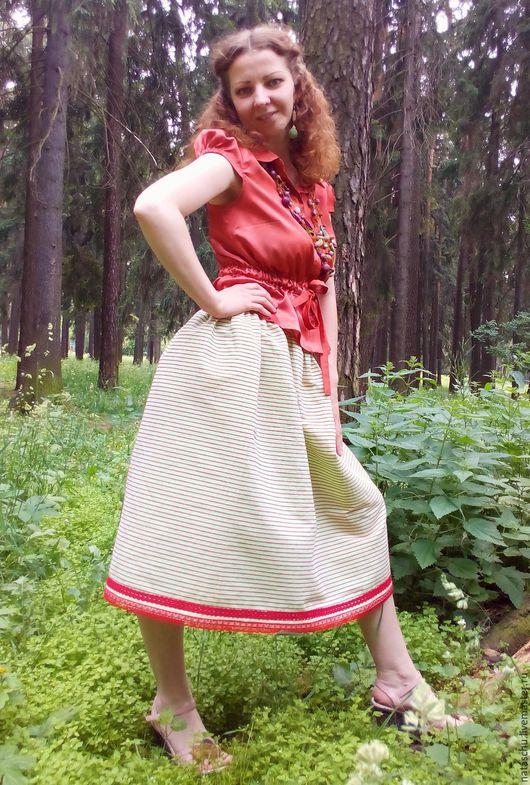 Юбки ручной работы. Ярмарка Мастеров - ручная работа. Купить Пышная юбочка на лето. Handmade. Салатовый, юбка для танцев