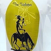 "Футболки ручной работы. Ярмарка Мастеров - ручная работа Футболка ""The Trickster"" белая. Handmade."