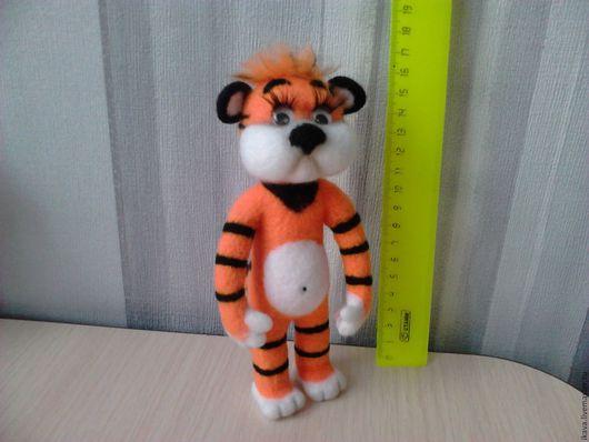 Игрушки животные, ручной работы. Ярмарка Мастеров - ручная работа. Купить Тигра. Handmade. Рыжий, полосатый, кошачий