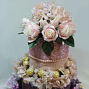 Подарки к праздникам ручной работы. Ярмарка Мастеров - ручная работа торт из махровых полотенец. Handmade.