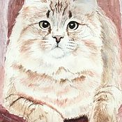 Картины и панно handmade. Livemaster - original item I found in the garden kitten. Handmade.