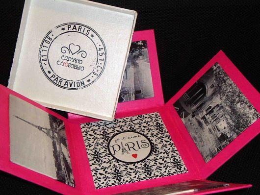 Подарочная упаковка ручной работы. Ярмарка Мастеров - ручная работа. Купить Подарочная коробка-шкатулка Paris. Handmade. Подарок, коробка
