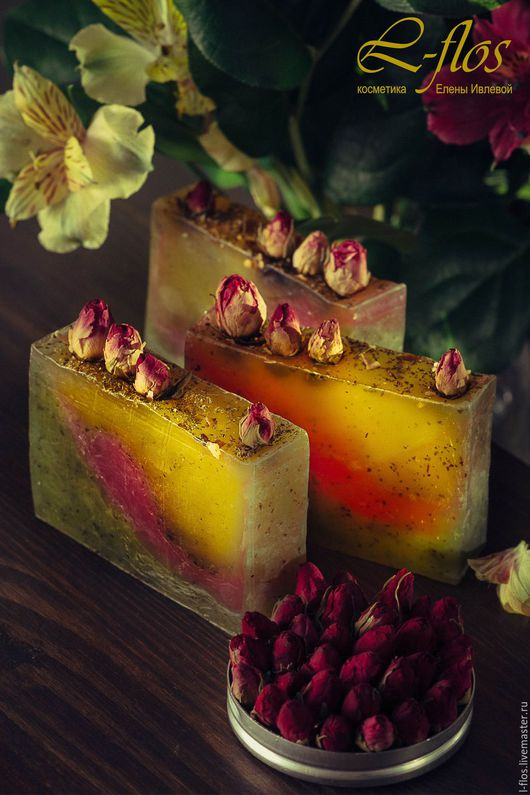 Мыло ручной работы `Мятная роза`- 300 руб !!!Не содержит лаурилсульфат натрия (SLS)!!!
