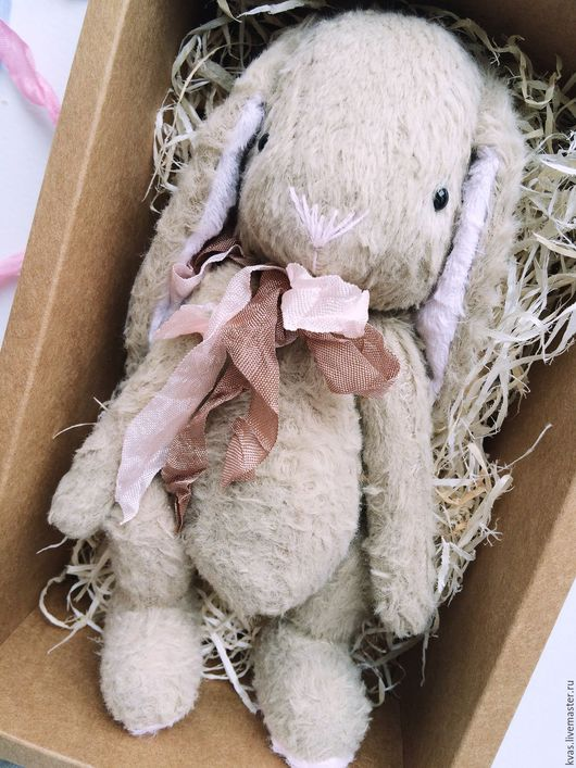 Мишки Тедди ручной работы. Ярмарка Мастеров - ручная работа. Купить Зайчишка. Handmade. Бежевый, зайчик, стеклянные глазки