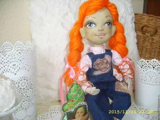 Коллекционные куклы ручной работы. Ярмарка Мастеров - ручная работа. Купить Рыжулька. Handmade. Комбинированный, кукла интерьерная, пастель
