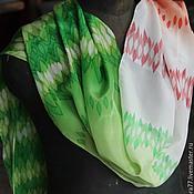 """Аксессуары ручной работы. Ярмарка Мастеров - ручная работа Шелковый шарф """"Два Цвета"""". Handmade."""