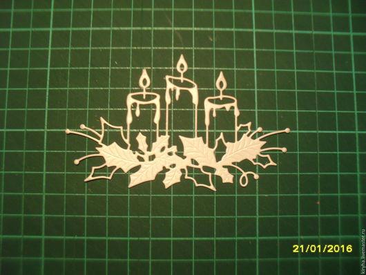 """Открытки и скрапбукинг ручной работы. Ярмарка Мастеров - ручная работа. Купить Вырубка """"Свечи"""". Handmade. Комбинированный, вырубка для открыток"""