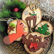 Подарки к праздникам handmade. Livemaster - original item Set of Christmas decorations