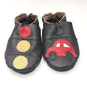 Одежда детская handmade. Livemaster - original item Red Сar Baby Shoes, Ebooba, Dark Brown Toddlers Moccasins,Ebooba. Handmade.