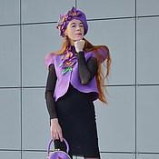 """Аксессуары ручной работы. Ярмарка Мастеров - ручная работа Берет женский """"Великолепие орхидей"""". Handmade."""