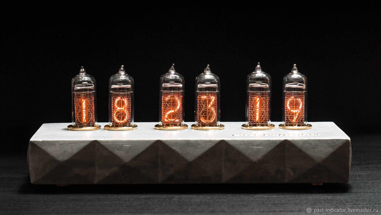 Ламповые часы Сатурн-Б цветные тип: серый, Часы ламповые, Москва,  Фото №1