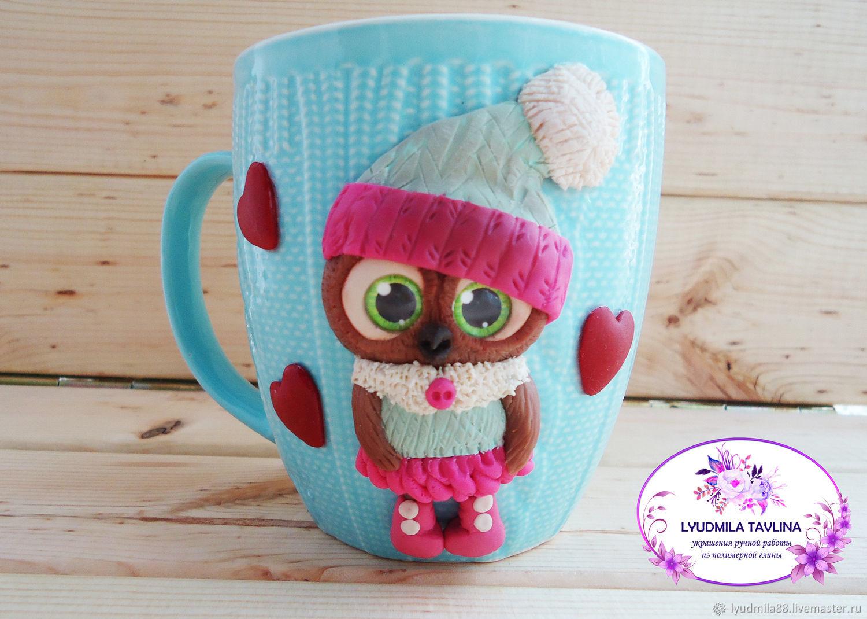 Mug With Owl Polymer Clay Zakazat Na Yarmarke Masterov Jlra6com Kruzhki I Chashki Kemerovo