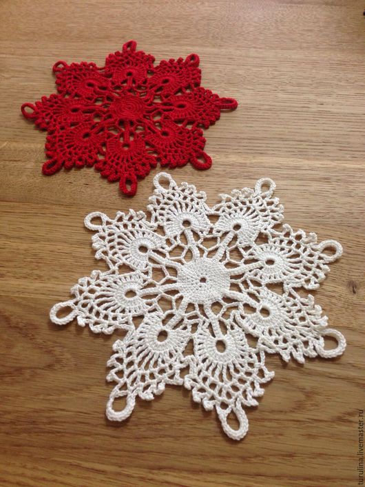 Текстиль, ковры ручной работы. Ярмарка Мастеров - ручная работа. Купить Кружевная салфетка, рождественские звёздочки. Handmade. Салфетка