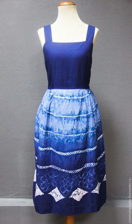 Одежда. Ярмарка Мастеров - ручная работа. Купить Сарафан JAPAN винтаж. Handmade. Винтаж, сарафан, японский винтаж, тёмно-синий