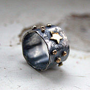 Украшения ручной работы. Ярмарка Мастеров - ручная работа Кольцо Le Petit Prince, серебро, золото. Handmade.