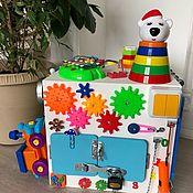 Бизиборды ручной работы. Ярмарка Мастеров - ручная работа Бизиборд  куб. Игрушка для детей от 8 месяцев.. Handmade.