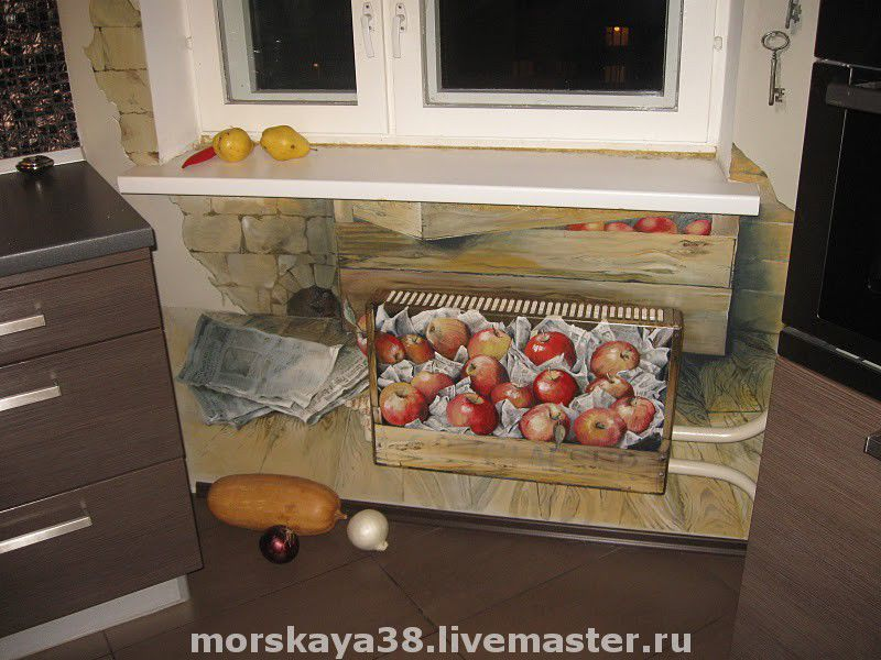a box of apples, is the radiator grille