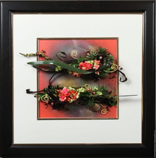 """Картины цветов ручной работы. Ярмарка Мастеров - ручная работа. Купить """"Тропический зной"""". Handmade. Комбинированный, подарок на любой случай"""