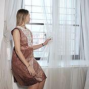 Одежда handmade. Livemaster - original item Dress felt Viennese coffee. Handmade.