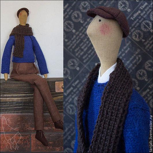 Куклы Тильды ручной работы. Ярмарка Мастеров - ручная работа. Купить Джордже. Handmade. Тильда кукла, коричневый цвет, фетр