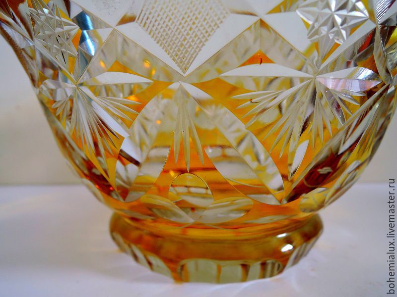 Yellow Colored Glass Vase 1920 1940 Bohemia Shop Online On