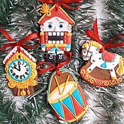Сувениры и подарки handmade. Livemaster - original item Christmas gingerbread Nutcracker. Set of gingerbread. Handmade.