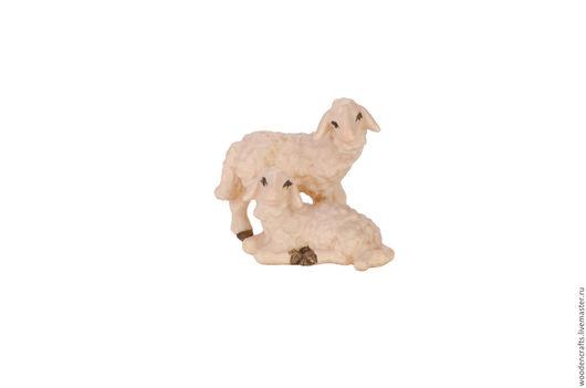 Статуэтки ручной работы. Ярмарка Мастеров - ручная работа. Купить Два ягненка. Handmade. Белый, овечка, ягнята, агнец, клён