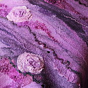 Аксессуары ручной работы. Ярмарка Мастеров - ручная работа Палантин  валяный Магия роз. Handmade.