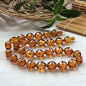 handmade. Livemaster - original item Necklace from Baltic amber, color is tea with sparks of the sun inside. Handmade.