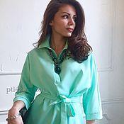 Одежда ручной работы. Ярмарка Мастеров - ручная работа Платье-рубашка цвета мяты. Handmade.