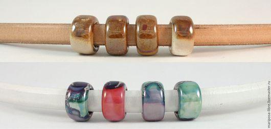 Для украшений ручной работы. Ярмарка Мастеров - ручная работа. Купить Бусины 10мм круглые, двухцветные. Handmade. Розовый, regaliz