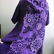 Одежда ручной работы. Ярмарка Мастеров - ручная работа Пальто Фиолетовый ажур. Handmade.