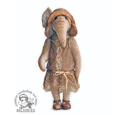 Куклы и игрушки ручной работы. Ярмарка Мастеров - ручная работа Слон тедди Голди. Handmade.