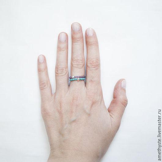 Кольца ручной работы. Ярмарка Мастеров - ручная работа. Купить Колечки из натуральных камней. Handmade. Комбинированный, кольцо ручной работы