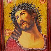 """Картины и панно ручной работы. Ярмарка Мастеров - ручная работа Икона """"Иисус Христос в терновом венце"""". Handmade."""