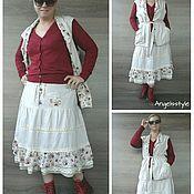 Одежда handmade. Livemaster - original item Skirt and waistcoat in the style boho.. Handmade.