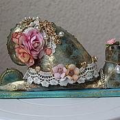 Подарки к праздникам handmade. Livemaster - original item Figurine: Snail Tilde. Handmade.