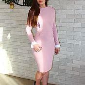 Одежда ручной работы. Ярмарка Мастеров - ручная работа Платье коктейльное розовое, коктельное платье на корпоратив. Handmade.