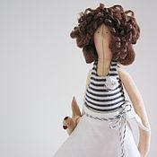 Куклы и игрушки ручной работы. Ярмарка Мастеров - ручная работа Тильда Девочка с курочкой. Handmade.